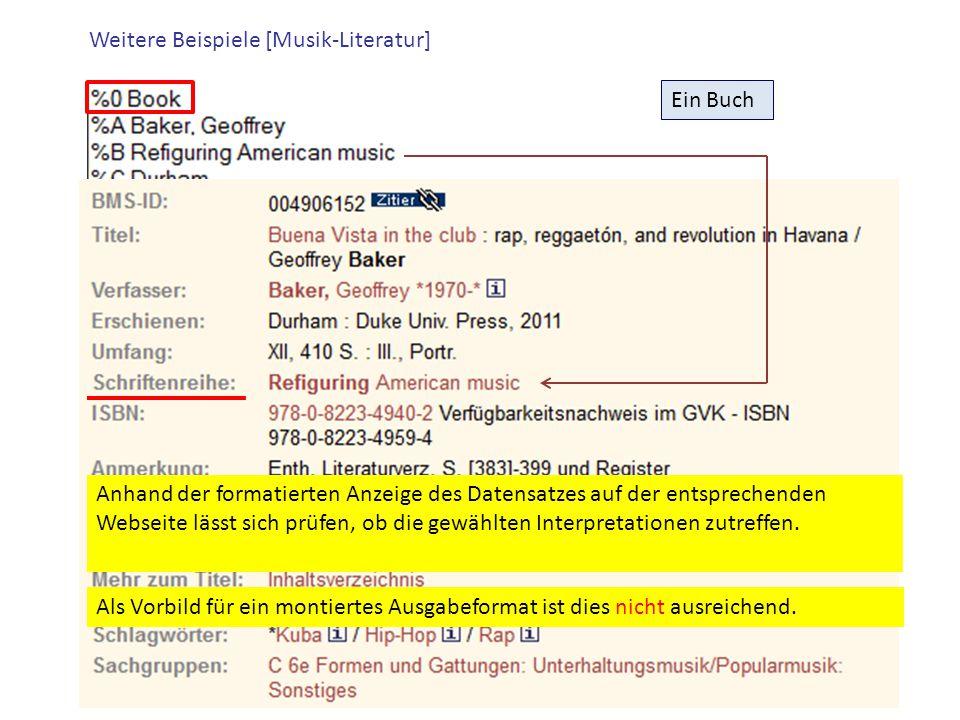 Weitere Beispiele [Musik-Literatur]